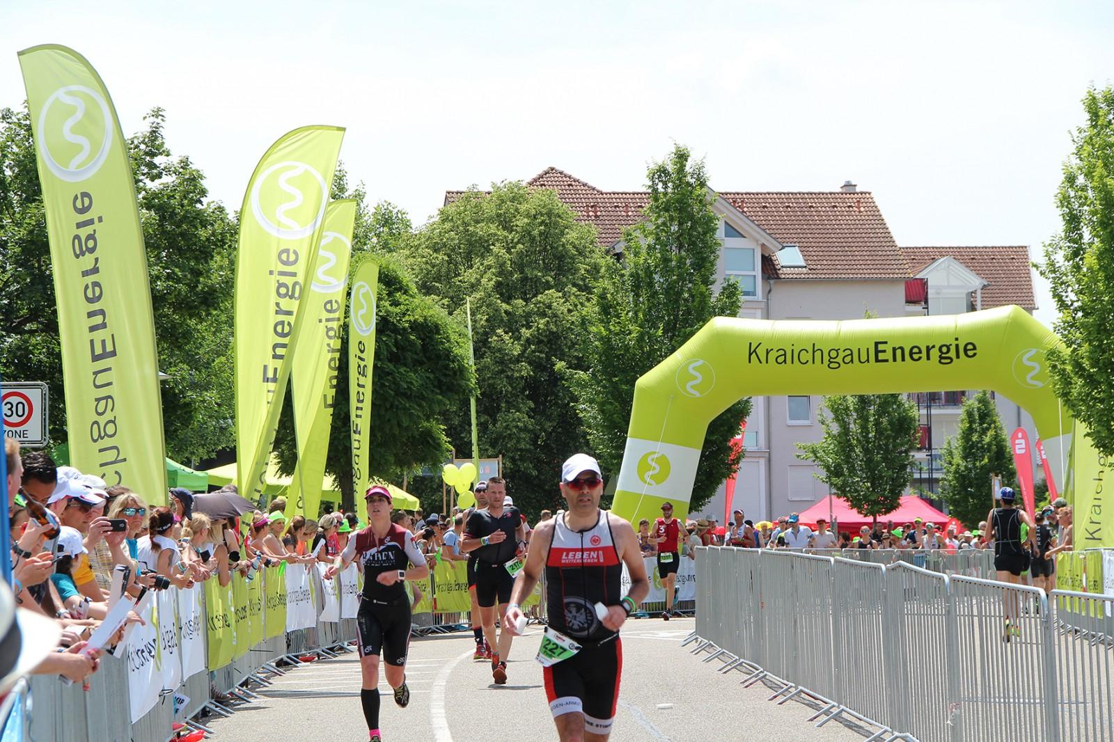 Ironman Kraichgau 70.3 Teinehmer auf der Strecke