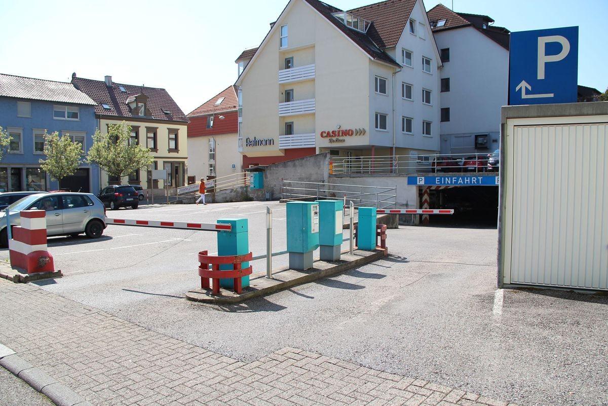 Einfahrt Parkanlage in der Weisshofer Strasse in Bretten