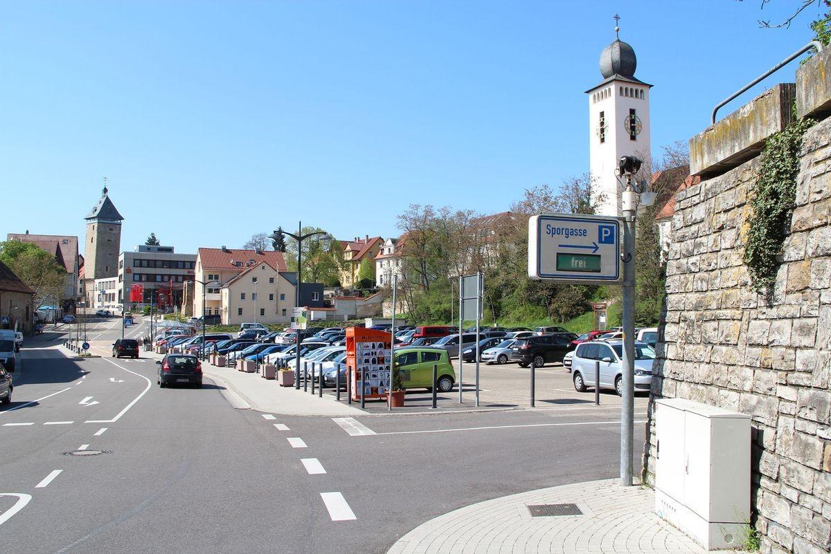 Parkplatz in der Sporgasse in Bretten
