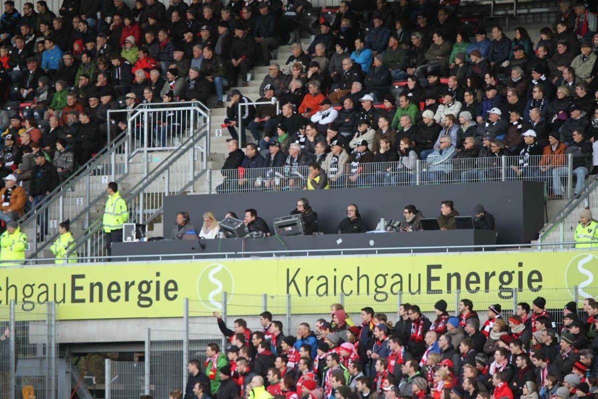KraichgauEnergie Werbung im SV Sandhausen Stadion
