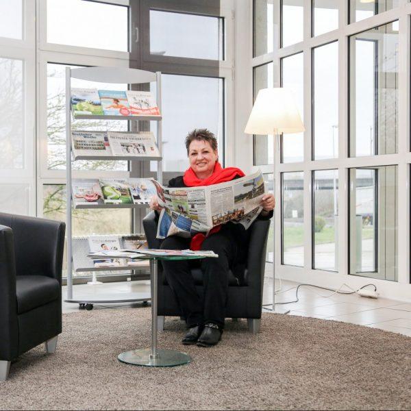 Kundin liest über SW Bretten in der Zeitung